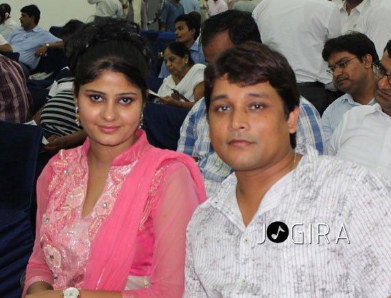 Nehasri Singh with chandan kumar singh