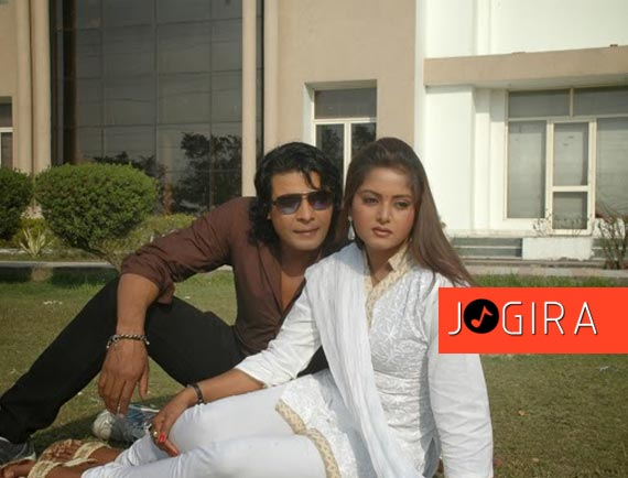 viraj bhat and anjna singh in Bhojpuri Film Garda