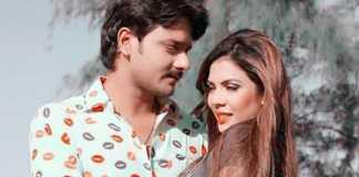 Aanchal soni and Gaurav jha in bhojpuri movie Baap re baap