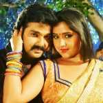 pawan singh with actress kajal raghwani