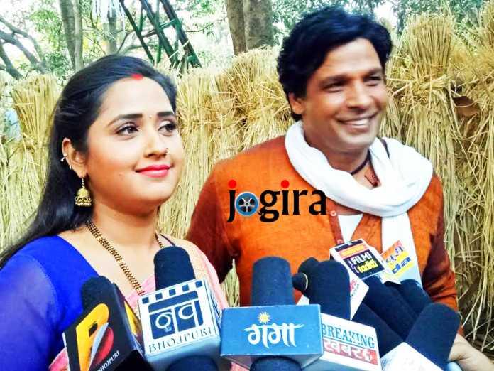 bhojpuri actress kajal raghwani and biraj bhat