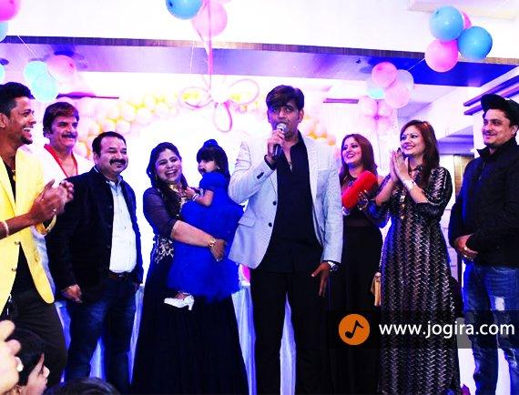 bhojpuri film shahenshah team on harshika birthday