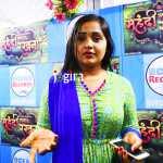 bhojpuri actress kajal raghwani during promotion of bhojpur movie mehndi laga ke rakhna