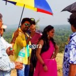 yash kumar and nisha dubey during shooting of bhojpuri film india vs pakistan