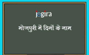 भोजपुरी में दिनों के नाम | Name of Days in Bhojpuri Language